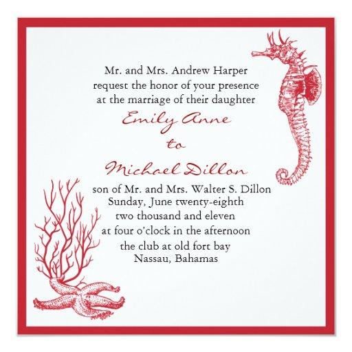 Invitación del boda del destino