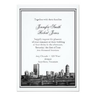 Invitación del boda del destino de Boston
