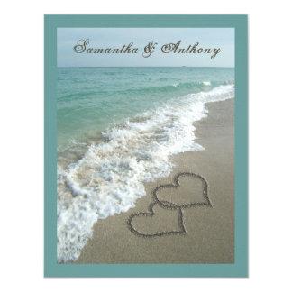 Invitación del boda del destino de la playa de invitación 10,8 x 13,9 cm