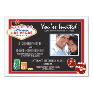 Invitación del boda del destino de Las Vegas