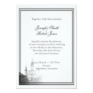 Invitación del boda del destino de New Orleans