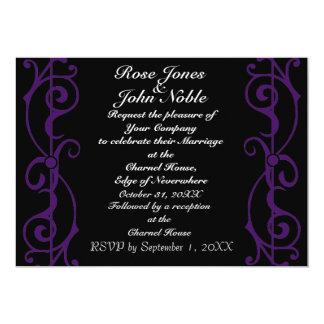 Invitación del boda del ébano de la fibrilla