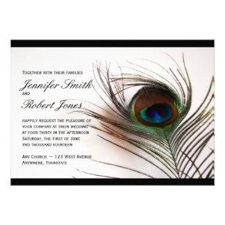 Invitación del boda del encanto de la pluma del pa