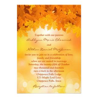 Invitación del boda del esplendor del otoño de las