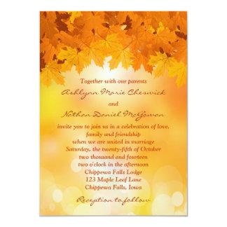 Invitación del boda del esplendor del otoño de las invitación 11,4 x 15,8 cm