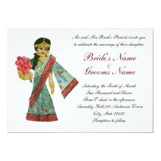 Invitación del boda del estilo de Bollywood