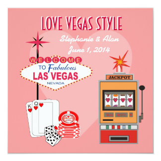 Invitación del boda del estilo de Vegas del amor