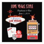Invitación del boda del estilo de Vegas del amor c