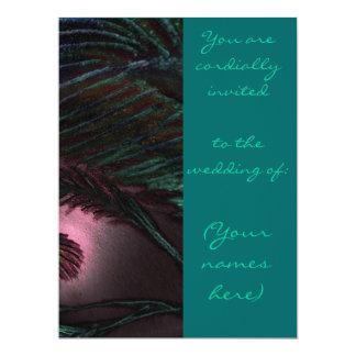 Invitación del boda del estilo del pavo real invitación 16,5 x 22,2 cm