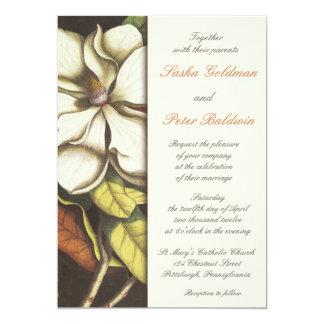 Invitación del boda del flor de la magnolia