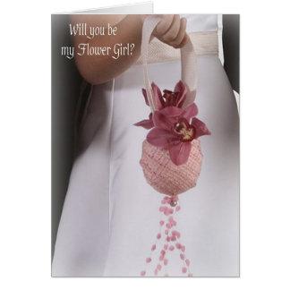 Invitación del boda del florista tarjeta pequeña
