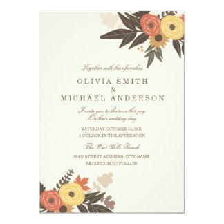 Invitación del boda del follaje de otoño