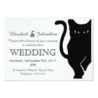 Invitación del boda del gato negro