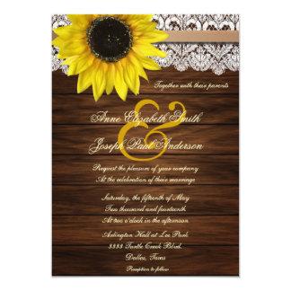 Invitación del boda del girasol