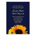 Invitación del boda del girasol de BlueII Invitación 12,7 X 17,8 Cm