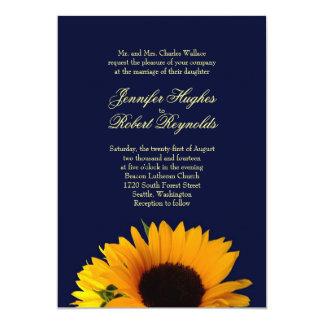 Invitación del boda del girasol de BlueII