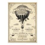 Invitación del boda del globo del aire caliente invitación 12,7 x 17,8 cm