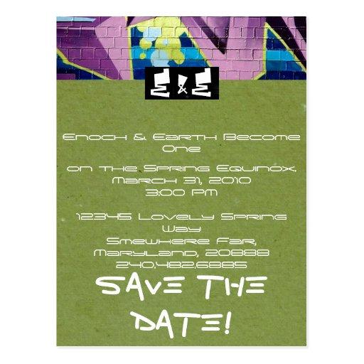 Invitación del boda del hip-hop postales