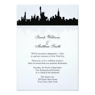 Invitación del boda del horizonte de Nueva York de Invitación 12,7 X 17,8 Cm