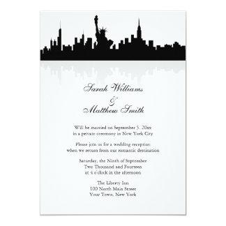 Invitación del boda del horizonte de Nueva York de