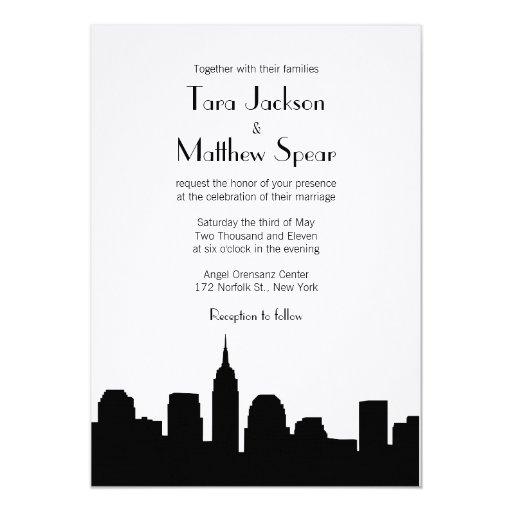 Invitación del boda del horizonte de NYC
