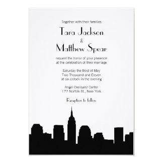 Invitación del boda del horizonte de NYC Invitación 12,7 X 17,8 Cm