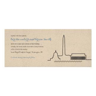 Invitación del boda del horizonte del Washington D