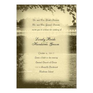 Invitación del boda del hotel de la isla de invitación 12,7 x 17,8 cm