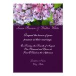 Invitación del boda del Hydrangea