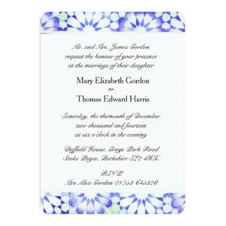 """Invitación del boda del """"Hydrangea"""" Invitación 12,7 X 17,8 Cm"""