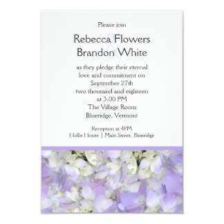 Invitación del boda del Hydrangea púrpura de la