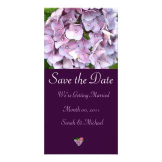 Invitación del boda del Hydrangea Tarjeta Fotográfica
