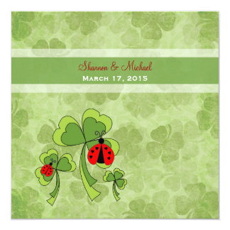 Invitación del boda del insecto del amor del día