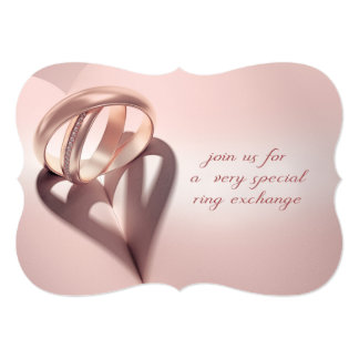 Invitación del boda del intercambio del anillo