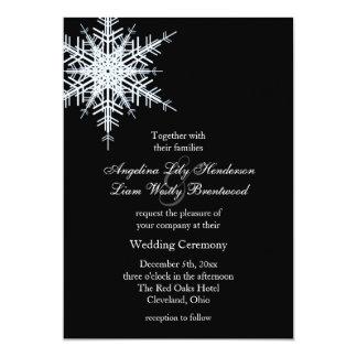 Invitación del boda del invierno