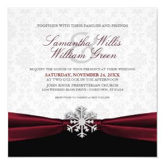 Invitación del boda del invierno de la cinta de