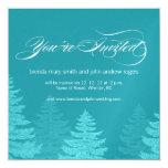 Invitación del boda del invierno de los árboles de invitación 13,3 cm x 13,3cm