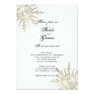 Invitación del boda del invierno de los copos de