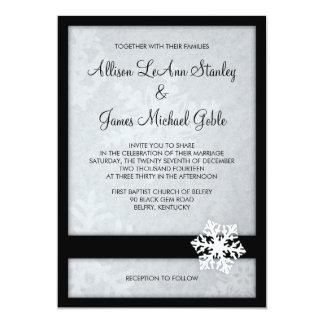 Invitación del boda del invierno del copo de nieve