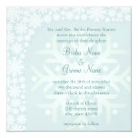 Invitación del boda del invierno del copo de nieve invitación 13,3 cm x 13,3cm