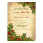 Invitación del boda del invierno del día de fiesta