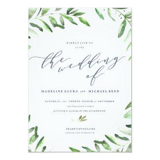 Invitación del boda del jardín de Boho de la rama