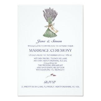 Invitación del boda del jardín del país de la invitación 12,7 x 17,8 cm