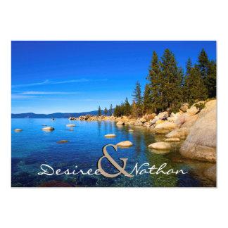Invitación del boda del lago Tahoe Invitación 12,7 X 17,8 Cm