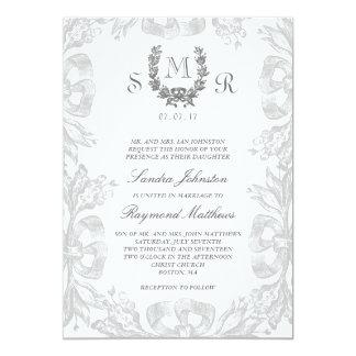 Invitación del boda del laurel del roble del