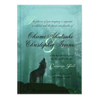 Invitación del boda del libro de la fantasía