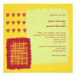 Invitación del boda del limón del chile