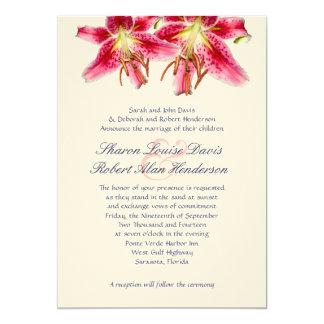 Invitación del boda del lirio del Stargazer