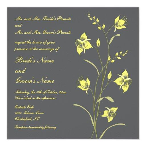 Invitación del boda del lirio del vintage