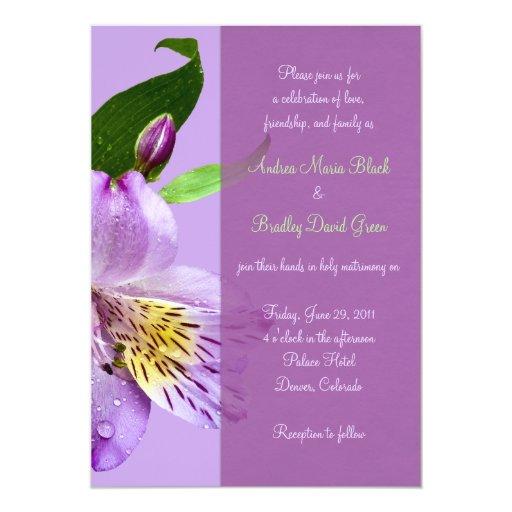 Invitación del boda del lirio peruano